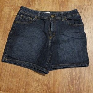 St. John's Bay Stretch Jean Shorts Size 8